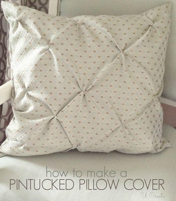 Pin Tucked Throw Pillow Tutorial.