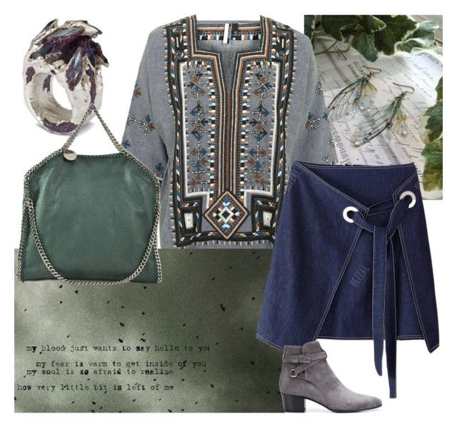 Hello by glirendree on Polyvore featuring moda, Topshop, Yves Saint Laurent and STELLA McCARTNEY