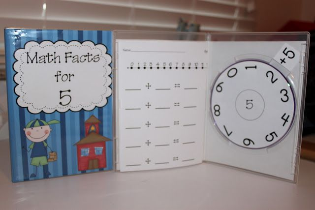 Create your own math fact kits using old dvd cases for homework or work in your math stations. This file includes addition facts to 10. Also be sure to check out the subtraction set at our TPT store.