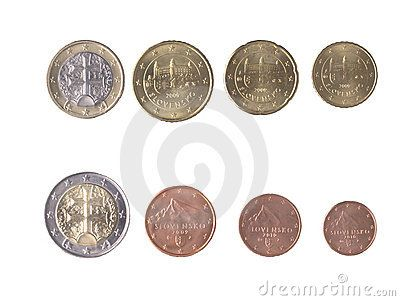Slovak Coins (Slovak Crowns) Stock Photo - Image: 42075100