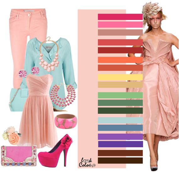 """Pink Cloud"" color palette for Spring, Autumn, and Winter women"