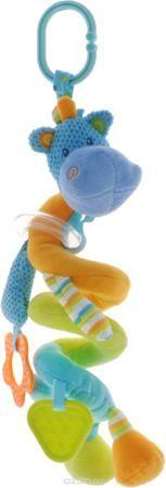 """Жирафики Игрушка-подвеска Бегемотик 93829  — 648р. ------------- Забавная развивающая игрушка-подвеска Жирафики """"Бегемотик"""" поднимет вашему малышу настроение и непременно вызовет улыбку! Игрушка выполнена из мягкого, приятного на ощупь материала различных фактур в виде бегемотика. Тело игрушки в виде пружинки можно растягивать над кроваткой малыша. Игрушка имеет пластиковое прозрачное кольцо с разноцветными шариками, которые свободно перекатываются и гремят при встряхивании, а также два…"""