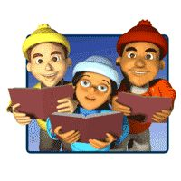 Children Caroling Animated Clipart