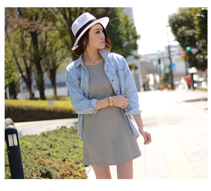 Rakuten free shipping ★ One Piece / One Piece short sleeve / dress knee-length / Piece large size / Piece flare / Piece A-line / one-piece tight / Piece T-shirt / dress Long / Piece Me clean / dress / solid color / white: REAL STYLE ( realistic style)