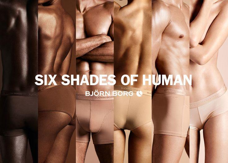 Hochaktuell: »Six shades of human«-Kampagne für Björn Borg