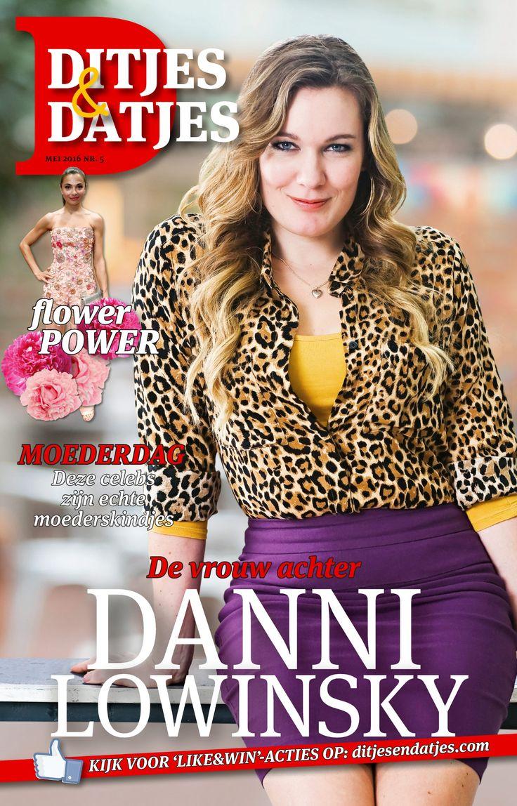 Cover Ditjes & Datjes 5, 2016 met Marlijn Weerdenburg, de vrouw achter Danni Lowinsky! #DitjesDatjes #MarlijnWeerdenburg #DanniLowinsky
