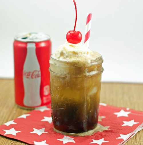 Adult Cherry Coke Float. Ingredients & Measurements: 5 Oz
