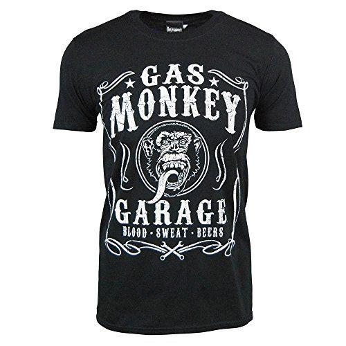 Gas Monkey Garage Black Flourish T Shirt, Television Merchandise