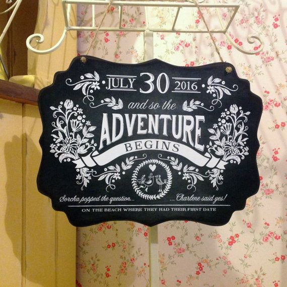 Personalised Engagement Gift The Adventure by SugarPrintFairy