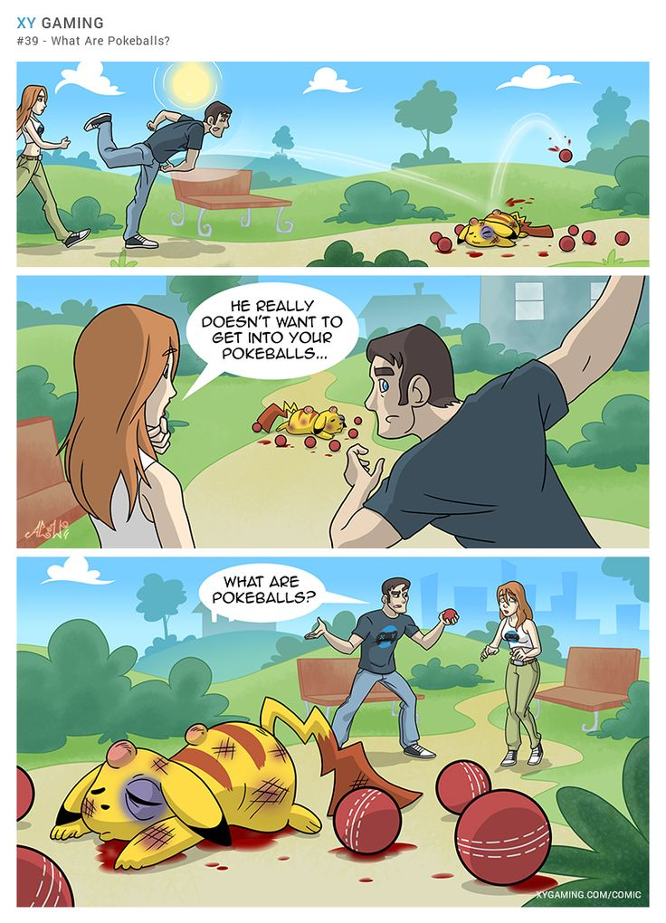 Pokeball Brutality   Source - www.xygaming.com/comic   #gaming #funny #comic #pokemon #pokeballs