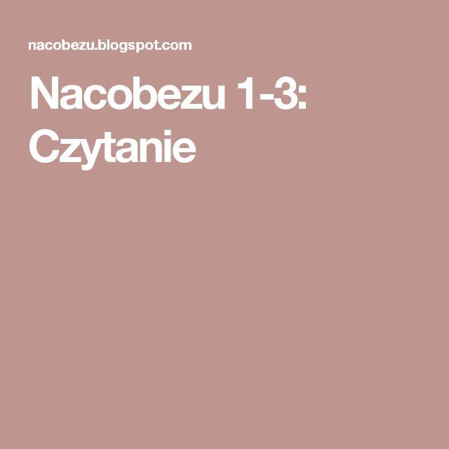 Nacobezu 1-3: Czytanie