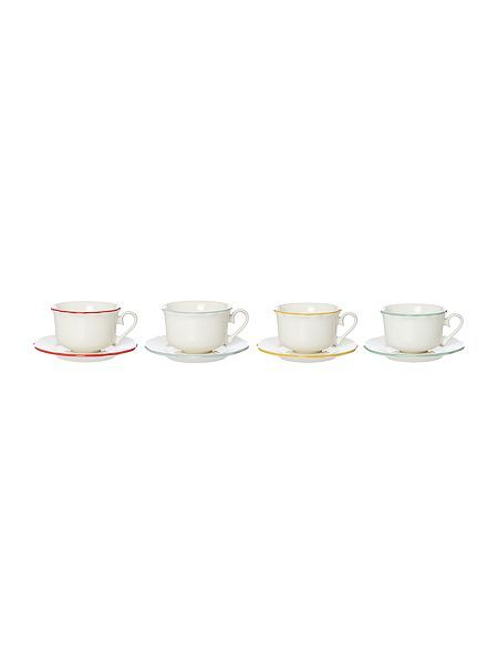 Bronte cup and saucer set of 4