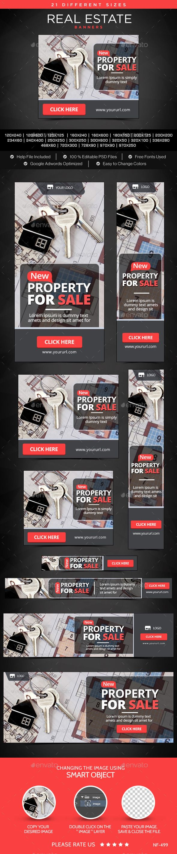 Real Estate Banners Template #design Download: http://graphicriver.net/item/real-estate-banners/12062136?ref=ksioks