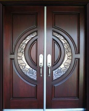 Solid Mahogany Exterior Front Double Door Prehung Finished Entry Ready 2 Install | eBay