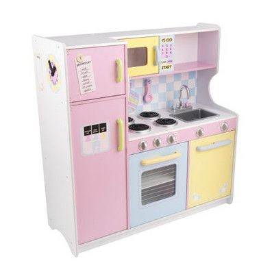 Kidkraft Large Pastel Kitchen Play Set Bought The Primary Color One For A  Girlfriend And Her Little Girl And Boy Love It. Plus The Sink Comes Out For  ...