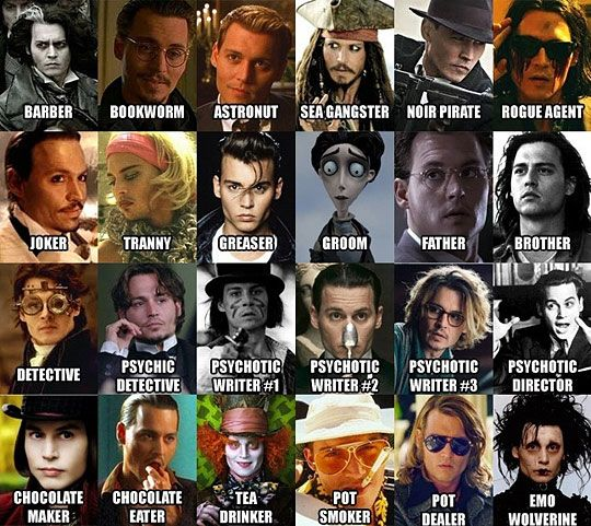 <3 you Johnny Depp and your many faces