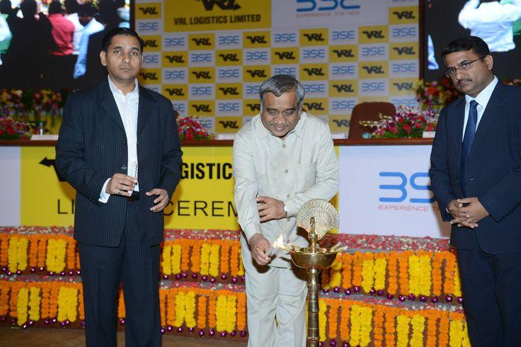 #BSE #BSEINDIA #BSEEVENT News Update -Mr. Vijay Sankeshwar, CMD, VRL LOGISTICS LTD. lighting the lamp at the listing ceremony of VRL LOGISTICS LTD. on Friday, 30th April, 2015 at BSE — at Bombay Stock Exchange.