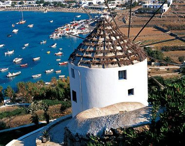Greece, Europe: is known for its bracing winds, which were put to good use by the mills