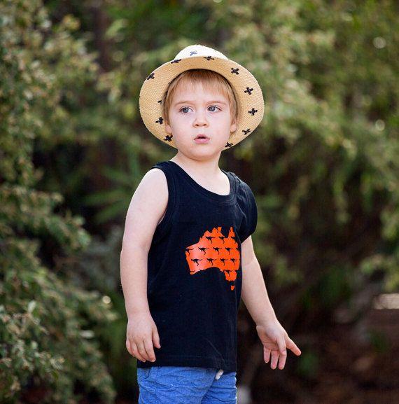 Australiana kids shirt Australian baby gifts by RedEchidnaDesigns