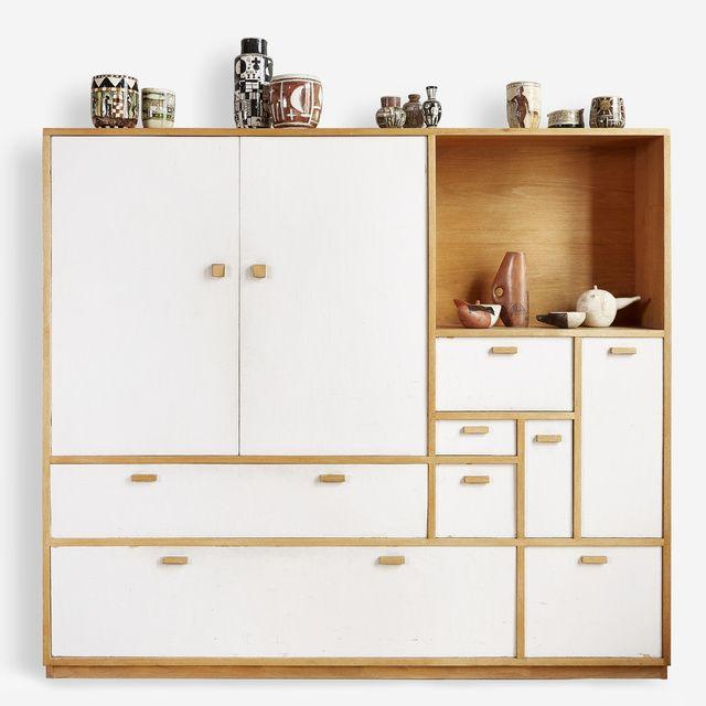 "1956 (made in 1990), Horacio Torres: ""Cabinet"". Painted wood, 67-1/4 × 77-1/2 × 11-1/2 in. (170.8 × 196.9 × 29.2 cm). Cecilia de Torres, Ltd., New York."