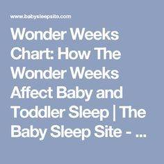 Wonder Weeks Chart: How The Wonder Weeks Affect Baby and Toddler Sleep | The Baby Sleep Site - Baby / Toddler Sleep Consultants