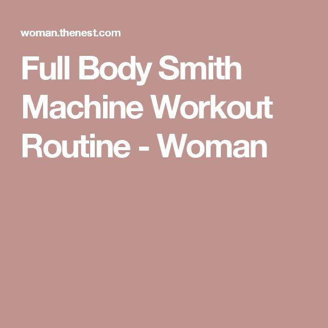 smith machine workout routines