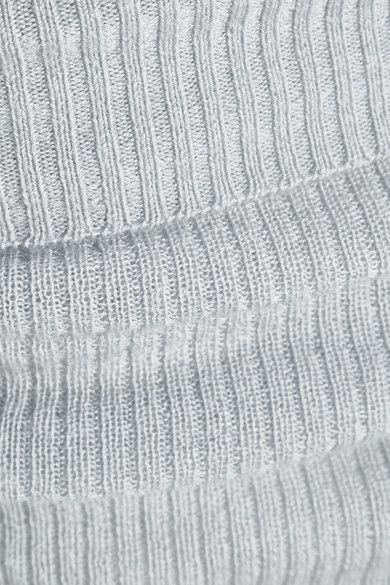 Eres - Futile Tentation Ribbed-knit Cashmere Leggings - Gray - 3