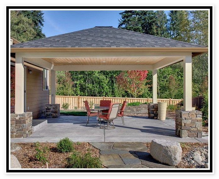 Patio Cover Plans Free Standing Covered Patio Design