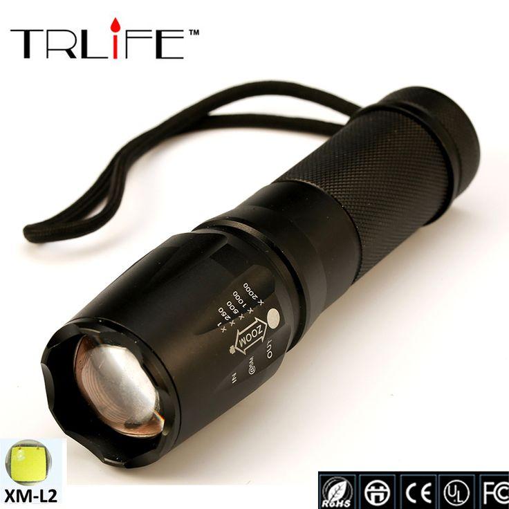 Led cree xm-l2 x900 zaklamp 8000 lumen torch zoomable tactische zaklamp voor 18650/26650/aaa voor jacht camping