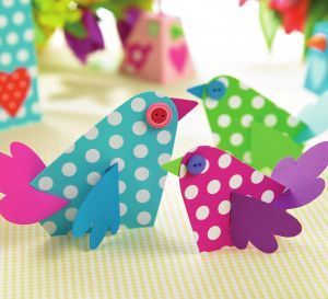 Bird Shaped Cards And Boxes