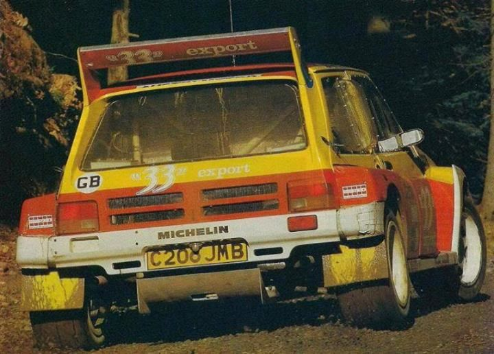 RA Didier Auriol - Bernard Occelli-MG Metro 6R4 Gr.B-Austin Rover World Championship Team