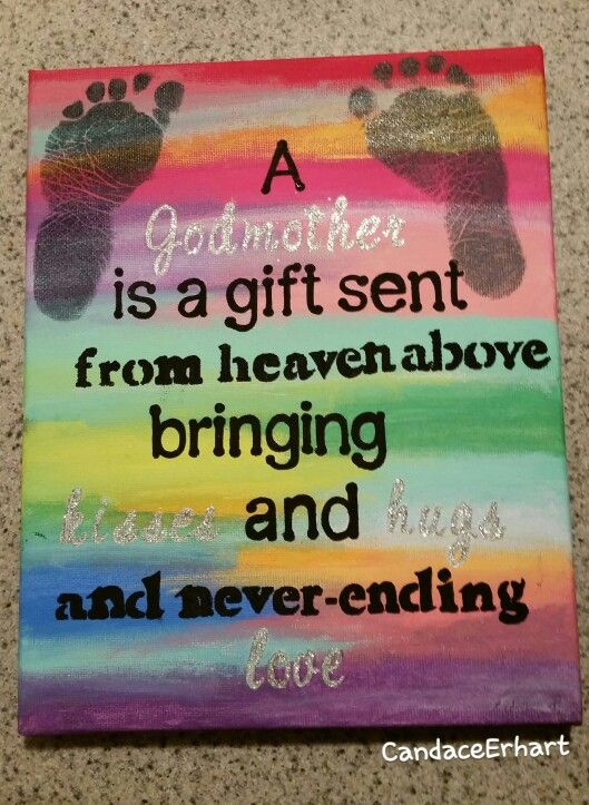 Cute gift for a godmother ❤