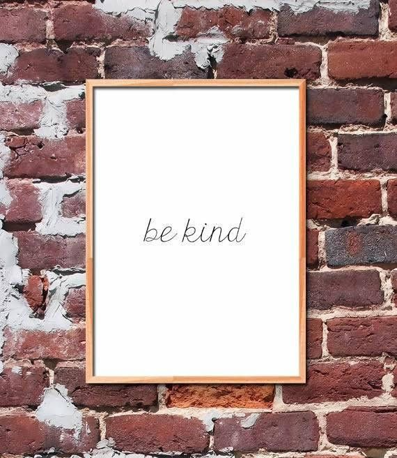 Be kind Printable Quote Art by gendots
