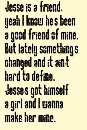 Rick Springfield - Jesse's Girl - Song Lyrics, Music Lyrics, Songs, Song Quotes, Music Quotes