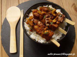 recette vegan végétarien brochette asiatiques tofu mlle prune