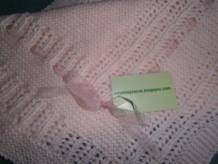 M s de 1000 im genes sobre tocas para beb s en pinterest - Mantas de lana hechas a mano ...