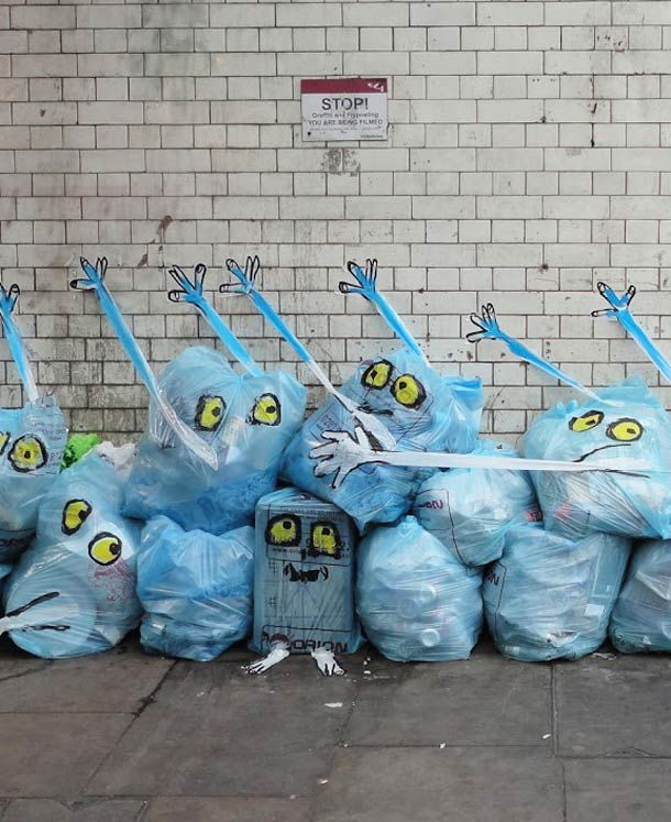 Best Street Art Graffitis Illusions Images On Pinterest - Artist creates clever street art installations that interact with their surroundings