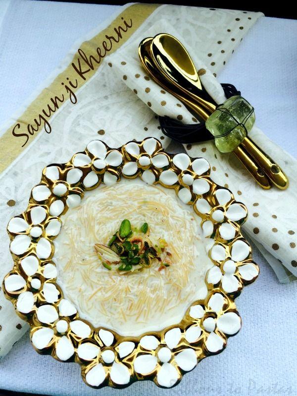 Ribbon's to Pasta's: S - Sayun ji Kheerni / Vermicelli Pudding