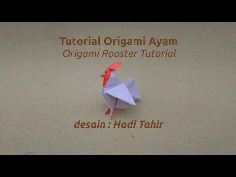 Origami Harri Hadi: Tutorial: Origami Ayam Jago/ Rooster