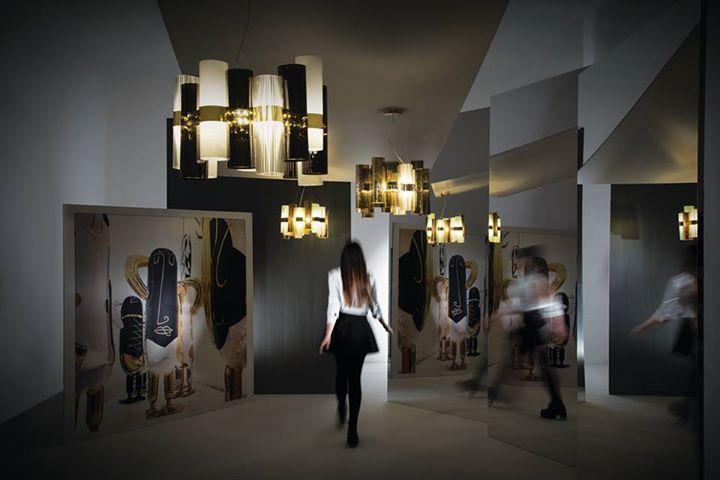 Nuove #collezioni e nuove storie da #Euroluce 2015. La Lollo, firmata Lorenza #Bozzoli, fotografata con le ceramiche di Jaime Hayon, Parigi. -------------- New collections and #New stories from Euroluce 2015. La Lollo, design by Lorenza Bozzoli, shot with Jaime #Hayon's ceramic #penguins, Paris.  Discover more: www.slamp.com
