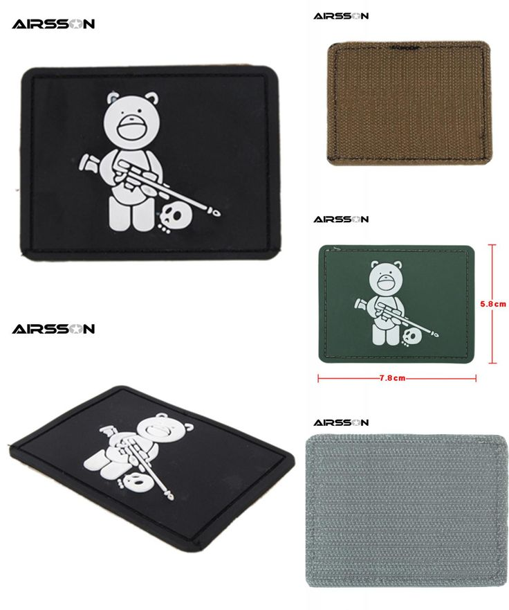 [Visit to Buy] 1pcs 80mm x 55mm Outdoor Tactical Uniform Titus Bear LOGO PVC Rubber Patch with Tape Back Black For Outfit Helmets Accessories #Advertisement