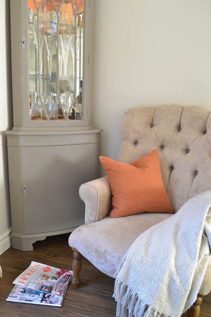 A cosy corner - cabinet Reloved by Jo with Annie Sloan French Linen.