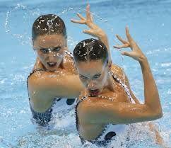 españa plata en natacion sincronizada -
