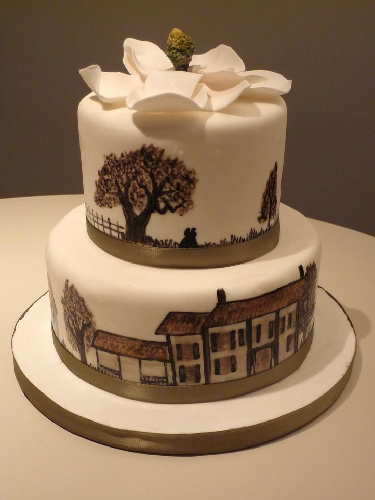 Gone with the Wind cake! and lovely magnolia on top | Food ...