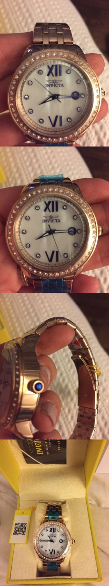Other Jewelry and Watches 98863: Invicta Women S Rose Gold Watch Nib -> BUY IT NOW ONLY: $45 on eBay!