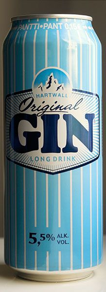 Hartwall Original Gin Long Drink, produced in Finland