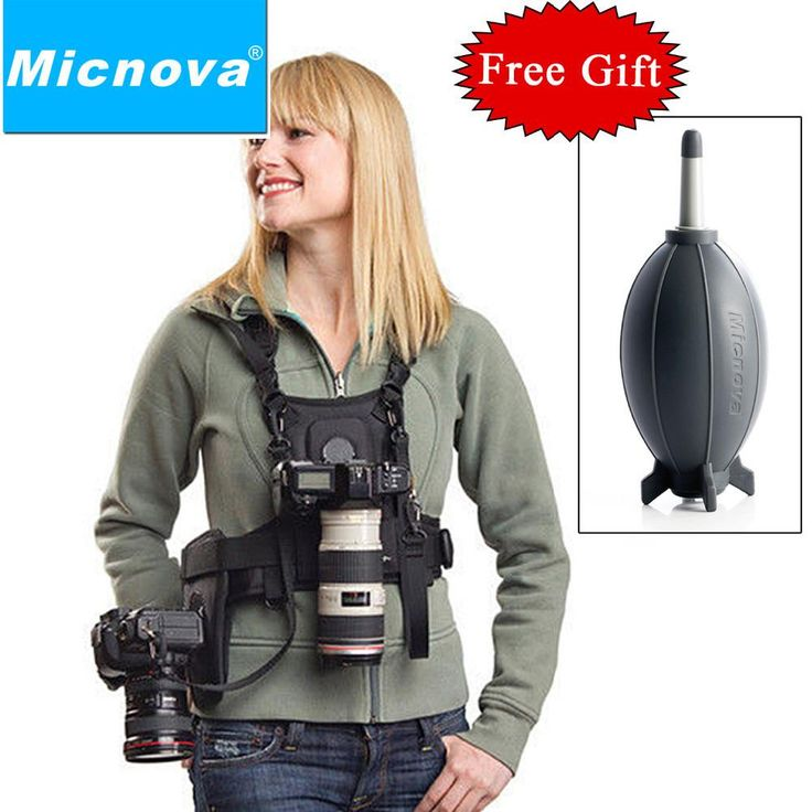 Micnova MQ-MSP01 Carrier II Multi Camera Carrier Photographer Vest with Dual Side Holster