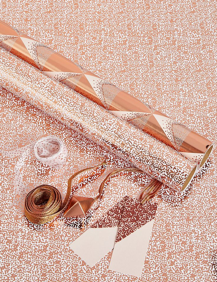 Hollywood Set Of 2 Luxury Rose Gold Christmas Wrap Pack