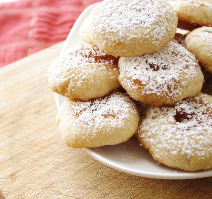 Kolache, Kolackys, or Thumbprint Cookies Recipe (Garlic Girl), dough made with cream cheese