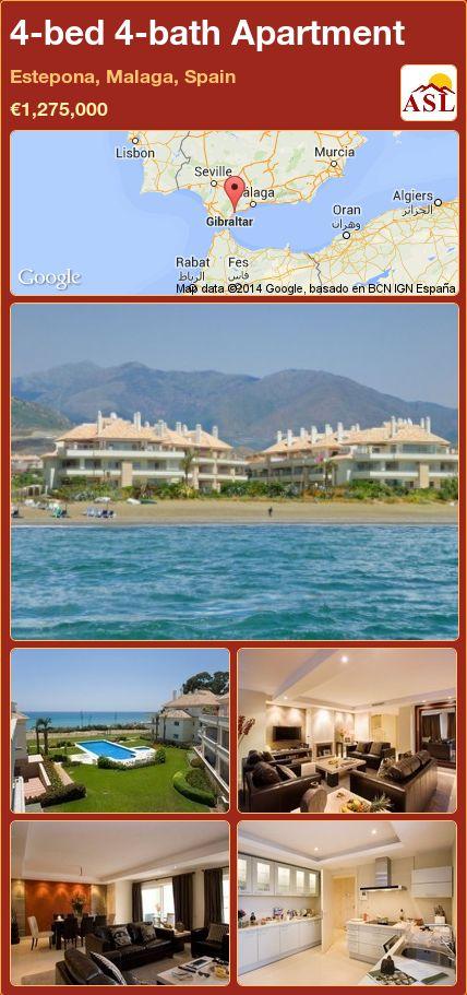 4-bed 4-bath Apartment in Estepona, Malaga, Spain ►€1,275,000 #PropertyForSaleInSpain